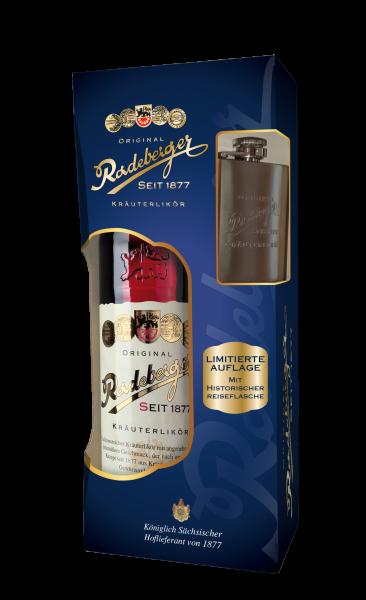 Original Radeberger Kräuterlikör Aktionspackung 0,7l inkl.1 Reiseflasche