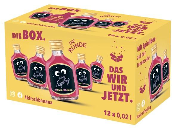 Kleiner Feigling Kirsch-Banana 12x0,02l Box mit Spiel