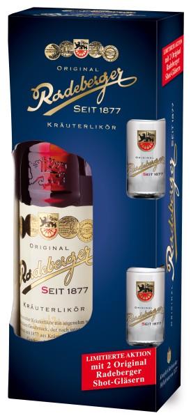Original Radeberger Kräuterlikör 0,7l +2 Shot-Gäser