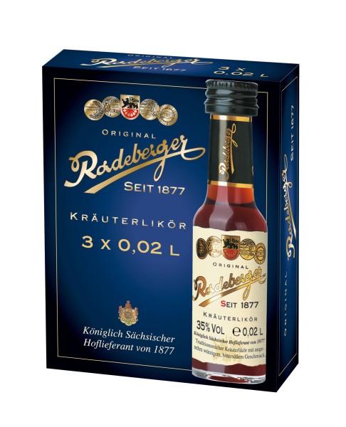Original Radeberger Kräuterlikör 3x0,02l