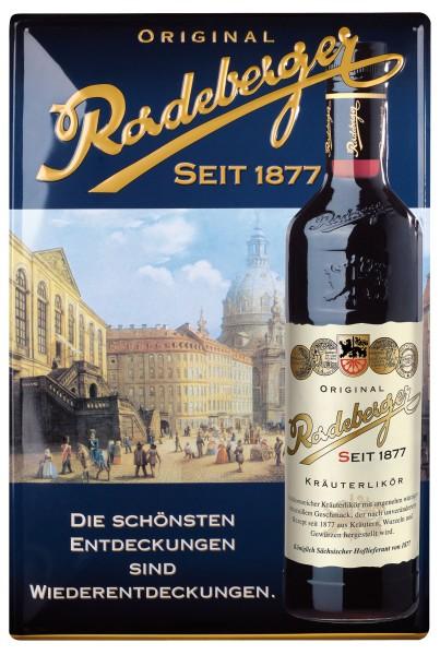 Original Radeberger Blechschild
