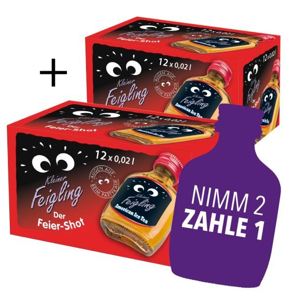 2x Kleiner Feigling American Ice Tea 12x0,02l Schachtel