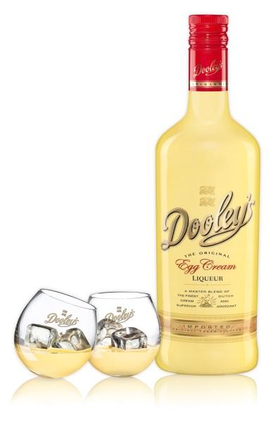 Dooley's Egg Cream Liqueur 0,7l + 2 Toffee-Tipper