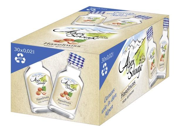 Alpenschnaps Steinbeisser Haselnuss 30x0,02l PET Flaschen
