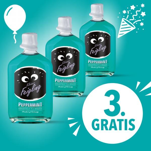 2 Fl. Kleiner Feigling Peppermint + 1 Flasche gratis